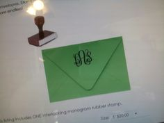 Monogram rubber stamp - perfect to give as a gift for a birthday, wedding or just because! www.ten23designs.com