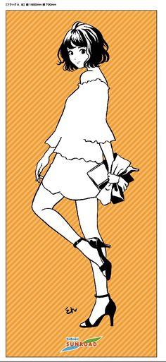 フラッグ - 江口寿史×吉祥寺サンロード!描き下ろしイラストが商店街をジャック の画像ギャラリー 3枚目(全12枚) - コミックナタリー