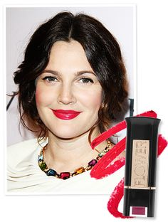 Found It! Drew Barrymore's Hot Pink Lipstick (It's From Her Own Makeup Line!) : InStyle.com What's Right Now