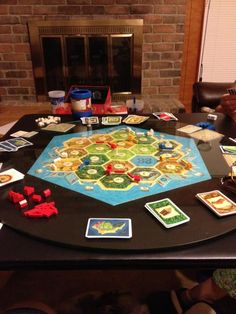 From Twitter user Daladria: Family game night, Settlers of Catan edition!