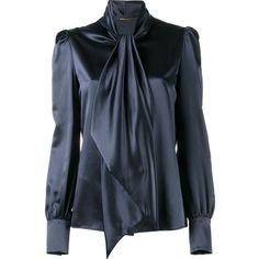 3cd43672ebcf45 Saint Laurent neck-tie blouse ( 1