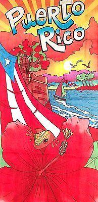 Puerto Rico Rican 30 x 60 INCHS Beach Towel Cotton Twill BORICUA FLAG CEMI