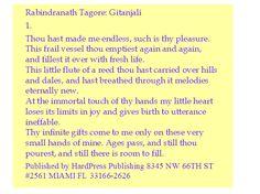 Rabindranath Tagore Gitanjali