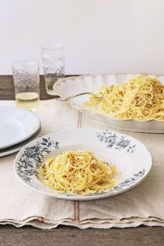 Spaghettini with Lemon and Ricotta