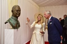 His Royal Highness was also presented with a bronze bust of himself, which was created by sculptress Frances Segelman. The life-like statue, complete with military attire, was created over four separate sittings with HRH between 2013 and 2015 and will be installed at Prince's Trust House in London. #partofPT