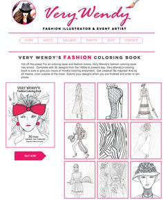 Adult Coloring, Coloring Books, Present Day, Colorful Fashion, Book Design, Fashion Art, Presents, Sketches, Lovers