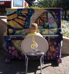 Another painted piano from an event similar to #keystothecities. This one is from the Pianos About Town project in Old Town, Fort Collins, Colorado.