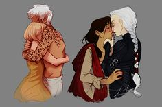 Aelin/Rowan and Manon/Elide from the Throne of... - Frida Johansson
