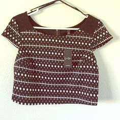 Jessica Simpson Crop Top NWT Jessica Simpson black and white Lexi crop top. Size medium. Brand new with tags. Super cute with high waisted shorts. Jessica Simpson Tops Crop Tops