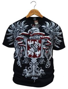 "T-shirt patriotyczny ""Husaria - Amor Patriae Nostra Lex"" HD Poland, Christmas Sweaters, Mens Tops, T Shirt, Fashion, Amor, Moda, Tee Shirt, Fashion Styles"