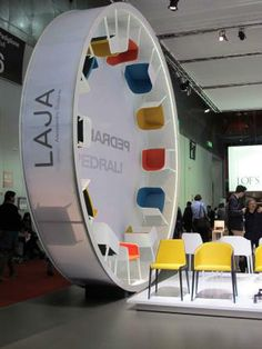 visual merchandising  Great use of Space | Eye Catching #tradeshow #exhibitdesign