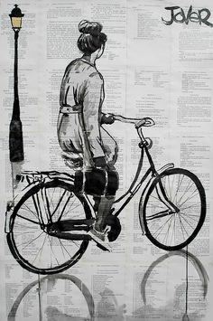 Loui Jover (1967) Lavoro del 2013. Penna e inchiostro su carta stampata riciclata e incollata
