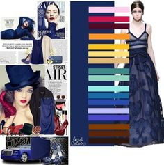 Navy and matching colors Color Combinations For Clothes, Color Blocking Outfits, Color Combos, Fashion Colours, Colorful Fashion, Winter Typ, Color Balance, Colourful Outfits, Color Trends