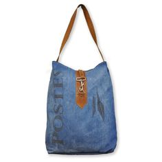 Leather/ Denim Bag - Overstock Shopping - Top Rated Cottage Home Tote Bags