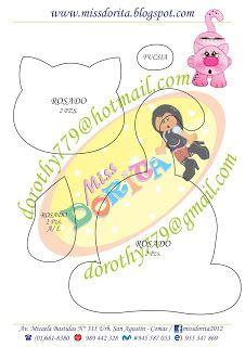 Miss Dorita: Portalápices Pencil Organizer, Felt Toys, Stuffed Toys Patterns, Felt Crafts, Box, Projects To Try, Patches, Kawaii, Dolls