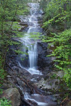 nice Roadside Walker Falls in Pisgah National Forest, north of Asheville, North Carol...