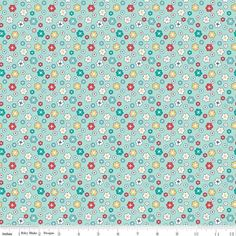 Lori Holt Vintage Happy 2 Fabric - REMNANTS -Riley Blake - WIDE BACK 108 wide Blossom on SONGBIRD WB9136 - 33\