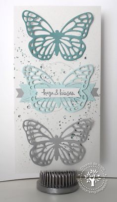 Love for Stamping: Butterflies Blues  Butterfly Basics, Gorgeous Grunge, Good Greetings, Butterflies Thinlits