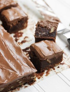 Diner-Style Frosted Chocolate Brownies