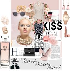 """""""French Kiss American Dream"""" by melissabrunet ❤ liked on Polyvore"""