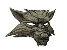 The Witcher 3: Wild Hunt - Life Size Wolf Mask Free Papercraft Download Wolf Helmet, Wolf Mask, Witcher 3 Wild Hunt, The Witcher 3, Papercraft Download, Paper Art, Paper Crafts, Knights Helmet, Character Design References