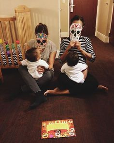 Pin for Later: 60 Adorable Moments Between Zoe Saldana and Her Twins  The twins celebrated Day of the Dead with their parents.