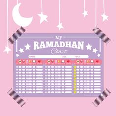 My Ramadan Chart Tracker/ Planner Islamic Kids door wishEDprintables