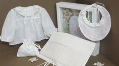 AJUAR PRIMERA PUESTA batista algodón beig .Ref 020-16 de LenceriaMontseTorres en Etsy