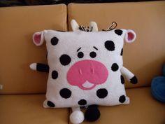 Super Cute Crochet Animal Pillow Designs that Your Kids will Totally Love The Best - Pillow Art Crochet Cow, Baby Afghan Crochet, Crochet Cushions, Crochet Pillow, Cute Crochet, Crochet For Kids, Crochet Animals, Baby Pillows, Kids Pillows