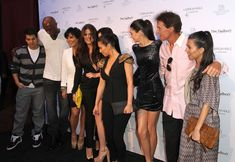 """Khloe Kardashian and Kendall Jenner Photos Photos - (L-R) Rob Kardashian, Lamar Odom, Kris Jenner, Khloe Kardashian Odom, Kylie Jenner, Kim Kardashian, Kendall Jenner, Bruce Jenner and Kourtney Kardashian pose for photographers during the """"Unbreakable"""" Fragrance Launch at The Redbury, Los Angeles on April 4, 2011 in Los Angeles, California. - Khloe Kardashian Odom And Lamar Odom's """"Unbreakable"""" Fragrance Launch"""