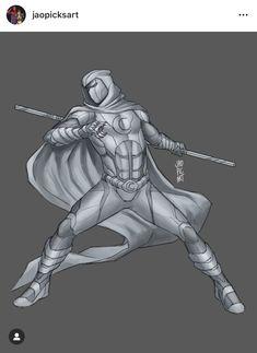 Art by Jaopicksart Moon Knight Cosplay, Marvel Moon Knight, Fantasy Heroes, Dark Fantasy Art, Comic Books Art, Comic Art, Rose On Fire, Bodacious Space Pirates, Marvel Concept Art