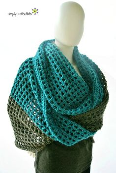 Coraline in Minden Oversized Cowl and Wrap free #crochet pattern by Celina Lane, Simply Collectible