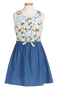 Roxy 'Palm Party' Tank Dress (Big Girls) available at #Nordstrom