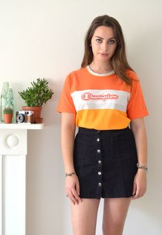 90's Vintage Orange Champion Tshirt | Ica Vintage | ASOS Marketplace