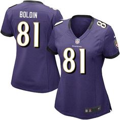 Nike NFL Baltimore Ravens 81 Anquan Boldin Limited Women Purple Team Color Jersey Sale