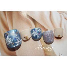 「素敵な靴には、美しいつま先がお似合い♡上品パンプス×4色のフットネイル」に含まれるinstagramの画像|MERY [メリー]