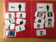 Sorting Boys vs. Girls. FREE PRINTABLES! www.autismtank.blogspot.com