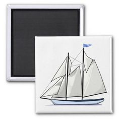 Sail Away Refrigerator Magnets