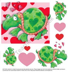 Turtle Hearts product from FUN4U on TeachersNotebook.com