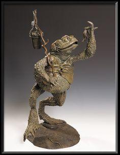 Warty Slugmuncher Esquire by Nick Bibby - David Goode Bronze Sculpture Frog And Toad, Creature Feature, Land Art, Esquire, Faeries, Garden Art, Sculpture Art, Sculpting, Fantasy Art