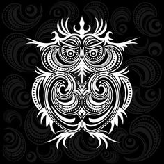 owl on ornament background Stock Photo - 11187611