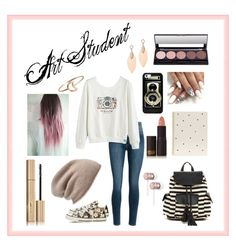 """""""Art Student"""" by abigailmarie-124 ❤ liked on Polyvore featuring Poverty Flats, Converse, Sugar Paper, Casetify, Lipstick Queen, Beats by Dr. Dre, Stila, Stefanie Sheehan Jewelry and Halogen"""