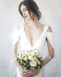 awesome Minimal Wedding Dress Style Less is More - Stylendesigns.com!