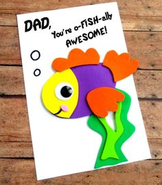 This DIY Father's Day Card Craft is fun and easy to make using colorful foam craft sheets and our printable template. fathers day celebration, kids diy fathers day gifts, kids crafts for fathers day Diy Father's Day Gifts, Great Father's Day Gifts, Father's Day Diy, Easy Gifts, Fathers Day Art, Happy Fathers Day, Fathers Day Gifts, Fathers Day Kids Crafts, Fathers Day Puns