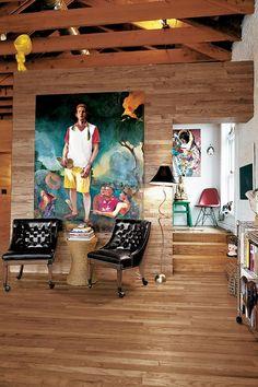 The Loft of Eric Shiner – Director of the Andy Warhol Museum #design #interior #loft #decor #decoration #brickwall #exposed brick #house #home #art #fashion #workplace #architecture #missdesign #interiordesign #fashion #furniture #painting #housedecoration #newyork #modern #designstudio #industrial #sculptures #Warhol