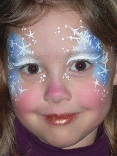 winter or snow fairy face paint - Google Search