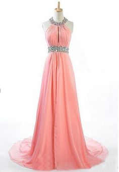 Beautiful Prom Dress, prom dresses beading prom dress open back formal gown prom dresses sexy evening gowns chiffon formal gown blush pink evening party gowns for teens Meet Dresses Evening Party Gowns, Evening Dresses, Cheap Prom Dresses, Bridesmaid Dresses, Bridesmaids, Beaded Prom Dress, Dress Prom, Prom Gowns, Prom Party Dresses