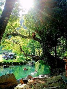 Blue Lagoon outside of Vang Vieng, Laos