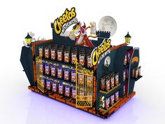 Bajada de campaña para Cheetos Halloween. Pallet Display, Pos Display, Store Displays, Display Design, Store Design, Point Of Purchase, Point Of Sale, Cheetos, Cardboard Display