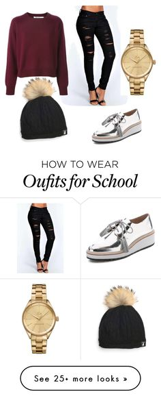 """""""SCHOOL!!"""" by udafer on Polyvore featuring Boohoo, Loeffler Randall and Lacoste"""